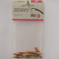 Kontaktmunstycke CuCrZr M6x28 1,0mm