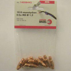 Kontaktmunstycke M8 för 1,2-tråd