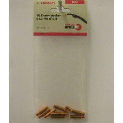 Kontaktrör E-Cu M6 för 0,8mm