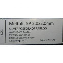 Silverfosforkopparlod 2,0 x 2,0 mm